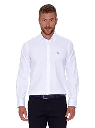 Polo Club Camisa Hombre Oxford (Blanco)