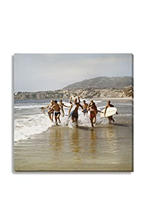 Photos.Com By Getty Images Surfers Running In Water With Surfboards By Tom Kelley On Canvas