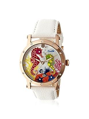 Bertha Women's BR4204 Morgan White/Multi Leather Watch