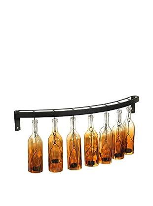 Tealight Bottle Sconce, Amber