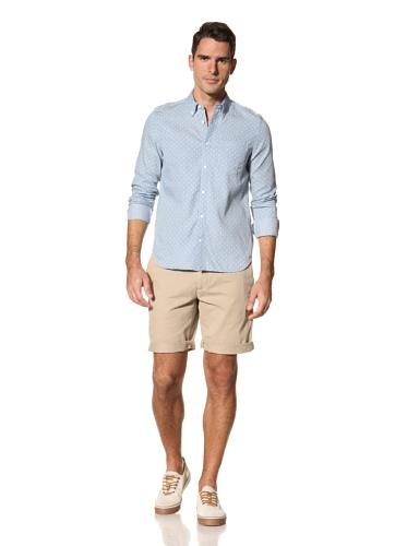 Timo Weiland Men's Polka Dot Long Sleeve Shirt (Light Blue)