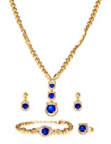 Blue crystals stylish Jewellery Set