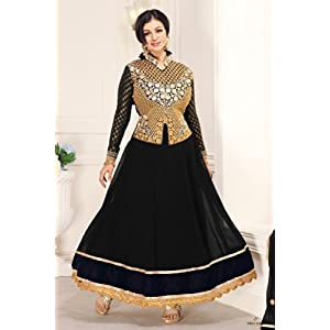 Bollywood Ayesha Takia 60 Gm Georgette Suit In Black Colour 1010