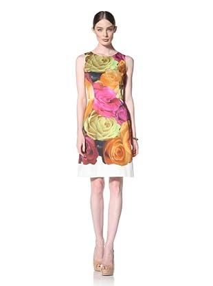 Peter Som Women's Sleeveless Rose Print Dress