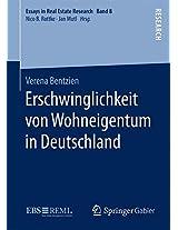 Erschwinglichkeit von Wohneigentum in Deutschland (Essays in Real Estate Research)