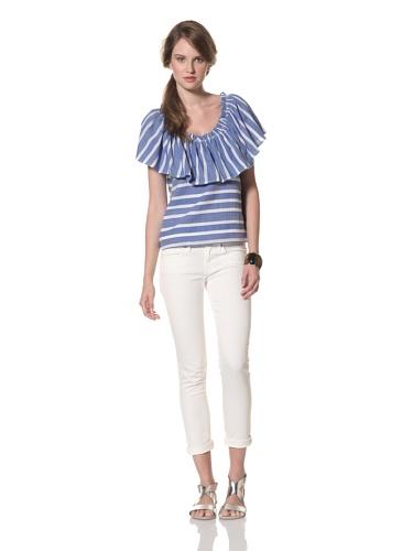 Whit Women's French Maxi Stripe Sol Top (Blue/White)