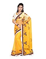 Yellow stylish Fancy Saree