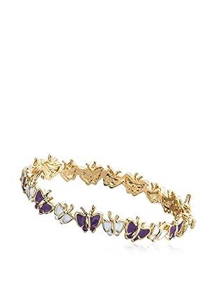 Little Miss Twin Stars Small Charming Treats Purple & White Cut Out Butterflies Bangle