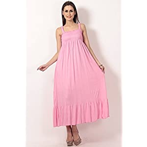 Teemoods Pink Long Dress