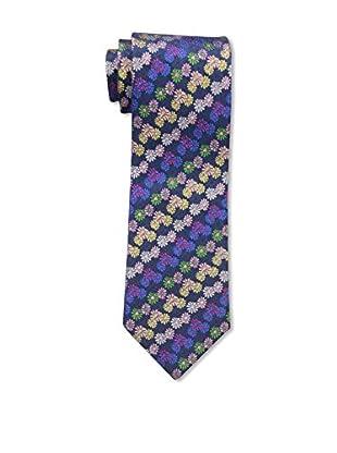 Bruno Piattelli Men's Floral Silk Tie, Red