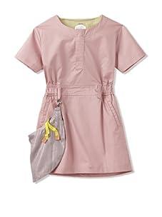 kicokids Girl's Work Wear Short Sleeve Mini-Dress With Removable Tool Belt (Potpouri)