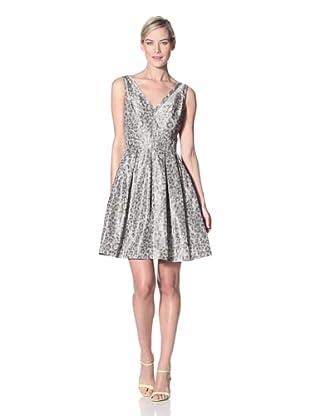 Z Spoke Zac Posen Women's Printed V-Neck Dress (Leopard)