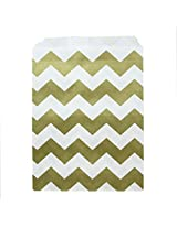 Dress My Cupcake Chevron Party Favor Bags (Set Of 24), Gold
