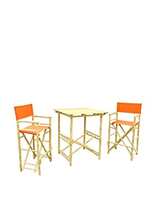 ZEW, Inc. High Table & Director Chair Set, Pottery