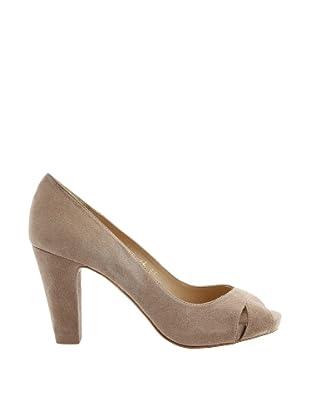 Paco Herrero Zapatos Peep Toe (Beige)