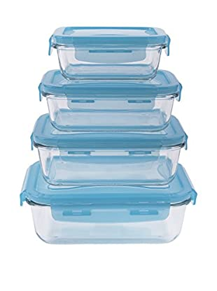 Soul Kitchen Frischhaltebox 4er Set Freshness himmelblau