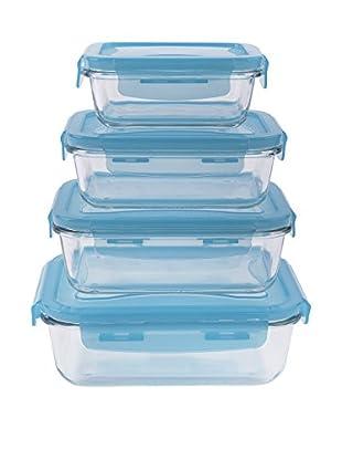 Molecuisine Frischhaltebox 4er Set Freshness himmelblau