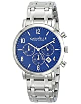 Caravelle by Bulova Dress Analog Blue Dial Men's Watch - 43B139