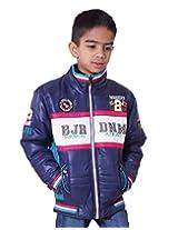 LITTLE BUGS Boy's Full Sleeve Nylon Jacket -Navy