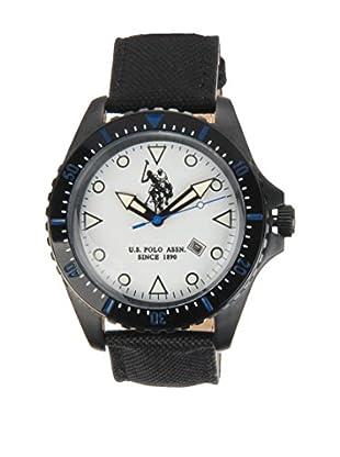 U.S. POLO ASSN. Uhr mit japanischem Quarzuhrwerk Kyros schwarz 45 mm