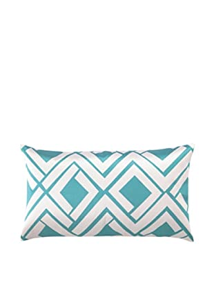 Trina Turk Avenida Maze Embroidered Pillow (Blue/White)