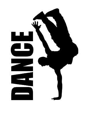 Ambiance Live Wandtattoo Hip Hop dancer schwarz