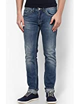 Blue Low Rise Skinny Fit Jeans Gas
