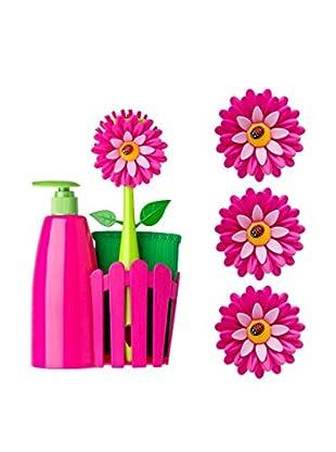 VIGAR Set Dekoblume + Haken + Seifenspender lila