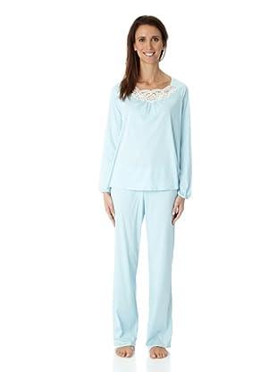 Hanro Pyjama 1/1 Arm Dalia NW (Hellblau)