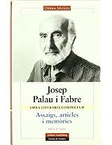 Obra Literaria Completa Palau I Fabre, I/ Complete Literary Work of Palau I Fabre, I: 2