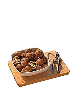 Tognana  Zubehör für Schalenfrüchte 3 tlg. Set Reims natur