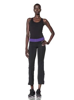 New Balance Women's Asymmetric Pants (Black/Deep Blue)