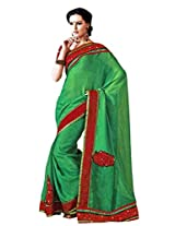 Maheshwari Saree in Green Colour for Party Wear Wear