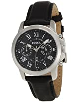 Fossil End of Season Grant Chronograph Black Dial Men's Watch - FS4840