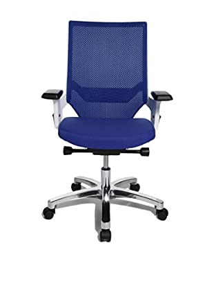 Topstar Bürodrehstuhl Autosyncron 1 inkl. Armlehnen (Korpus weiß) (royalblau)