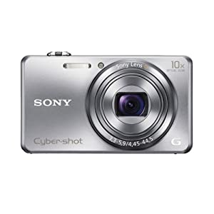 Sony Cyber-shot WX200 18.2MP Point and Shoot Camera (Silver) with 10x Optical Zoom, Camera Case