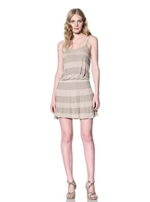 SB by Sheri Bodell Women's Crystal Stripe Slipdress (Sahara)