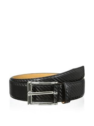 Leone Braconi Men's Textured Belt (Black)