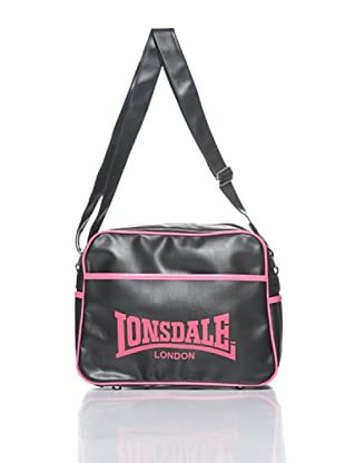 Lonsdale Bolsa Pete (Negro / Fucsia)