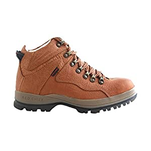 Red Chief Men's Tan Leather Boots (RC2506-ELEPHANT TAN-43) - 9 UK