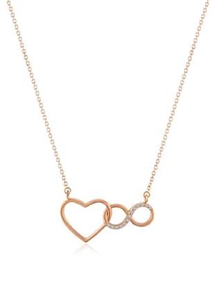 Divas Diamond Collar Gemstone Corazón Infinity
