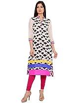 Amaya Women's Cotton Kurta (A1012-S_M, Multicolored, M)