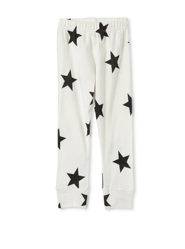 NUNUNU Kid's Star Leggings (White)