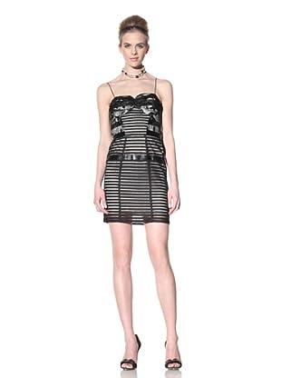 Bensoni Women's Lace Cage Dress (Black)
