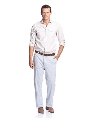 Peter Millar Men's Textured Stripe Pant (Blue Stripe)
