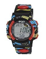 Ego by Maxima Digital Black Dial Men's Watch - E-37180PPDN