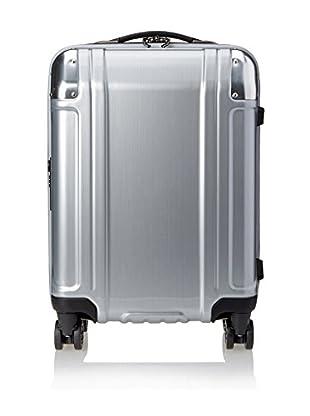 Zero Halliburton Geo Polycarbonate Carry On 4 Wheel Spinner Travel Case, Silver