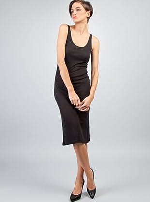 Caramelo Vestido Entallado (Negro)
