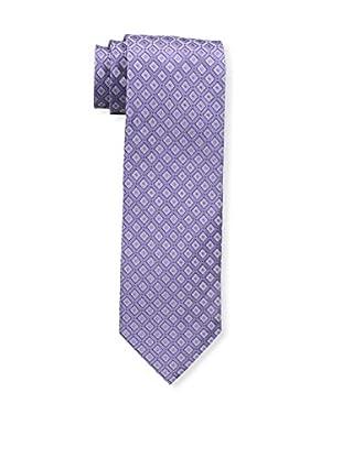 Bruno Piattelli Men's Maze Silk Tie, Lilac