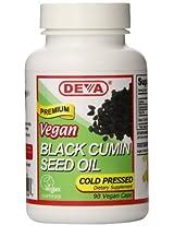 Deva Vegan Vitamins Black Cumin Seed Oil - 90 Vegetarian Capsules